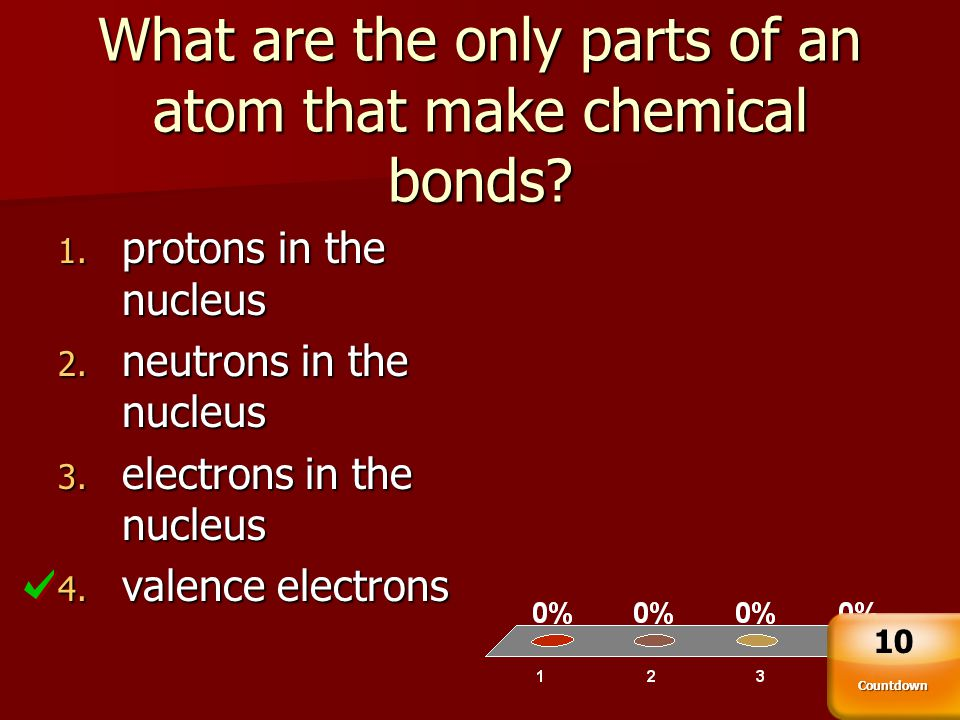 What are the only parts of an atom that make chemical bonds
