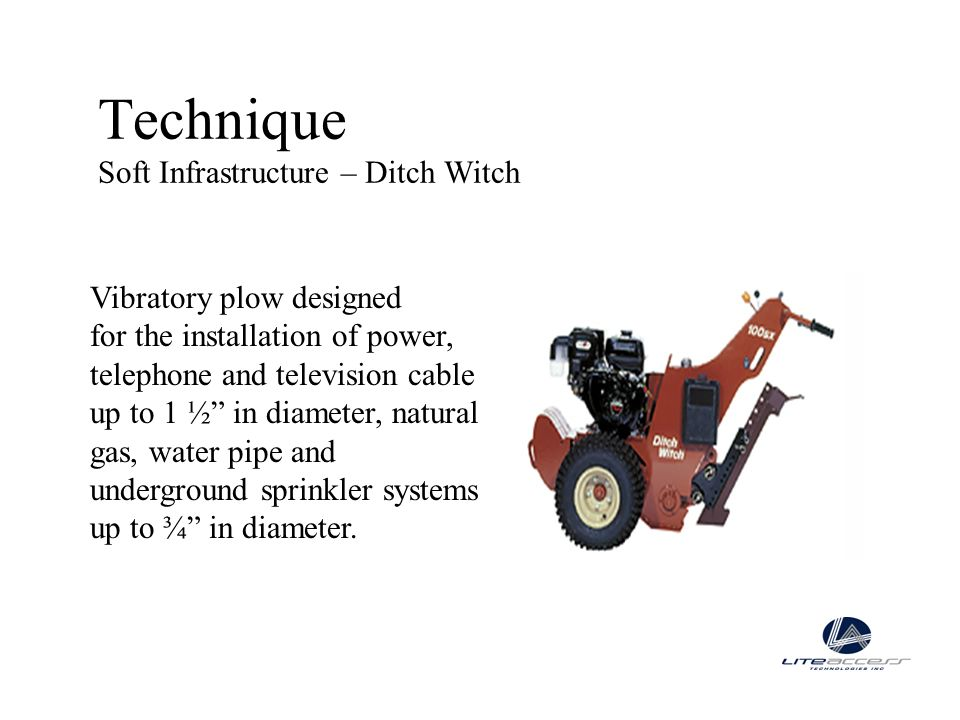 Technique Soft Infrastructure – Ditch Witch