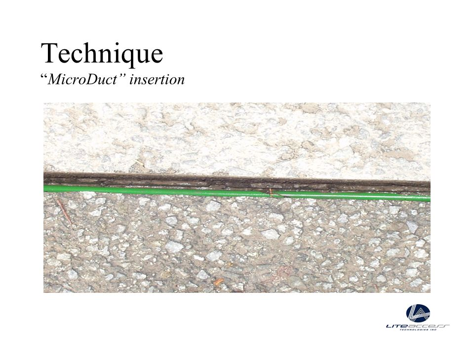 Technique MicroDuct insertion