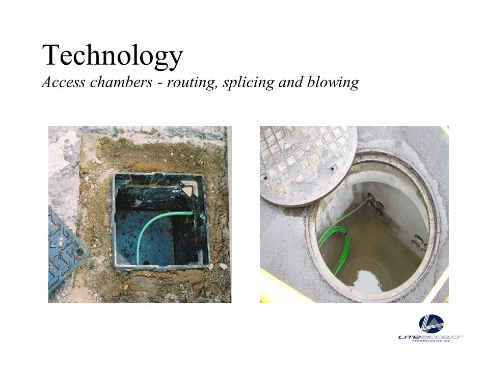Technology Access chambers - routing, splicing and blowing