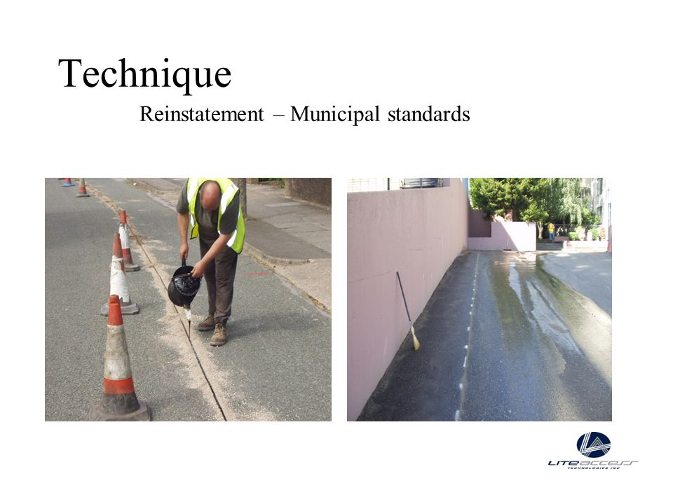 Technique Reinstatement – Municipal standards