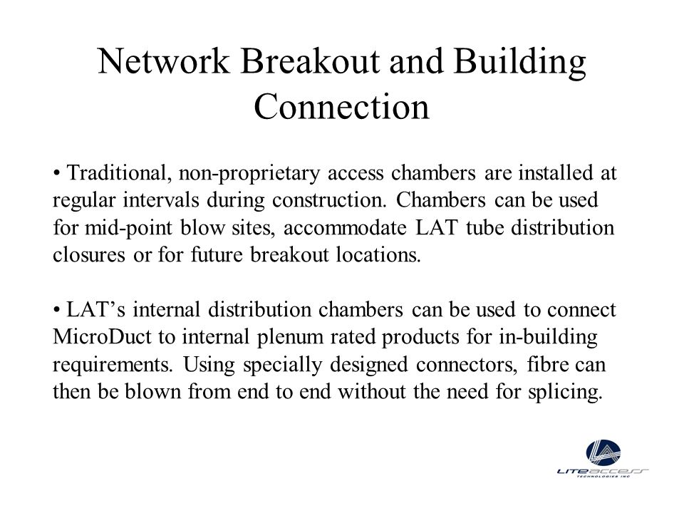 Network Breakout and Building Connection
