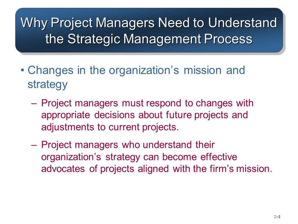 why project managers need to understand 2018-7-19 deliver clear instructions project managers must listen and ask questions to fully understand the scope of the project as it's presented by the stakeholders.