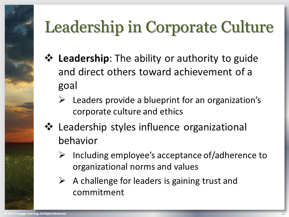 Leadership in Corporate Culture