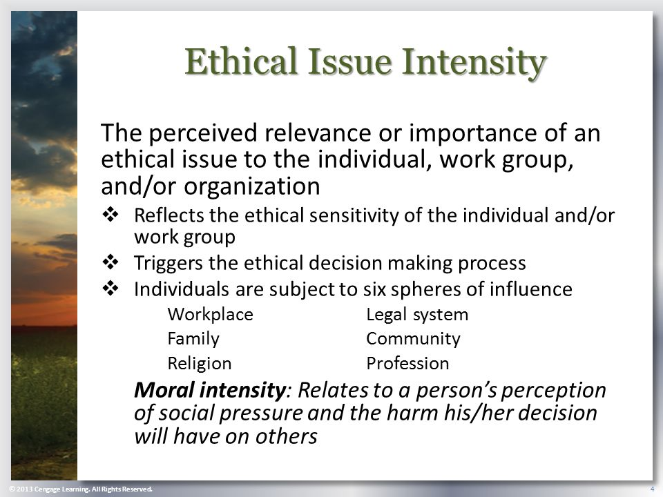 Ethical Issue Intensity