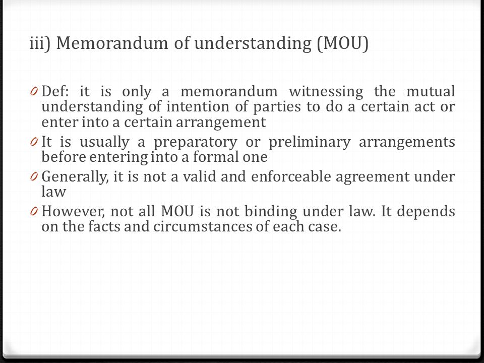Intention to create legal relationship ppt video online download – Mutual Understanding Agreement Format