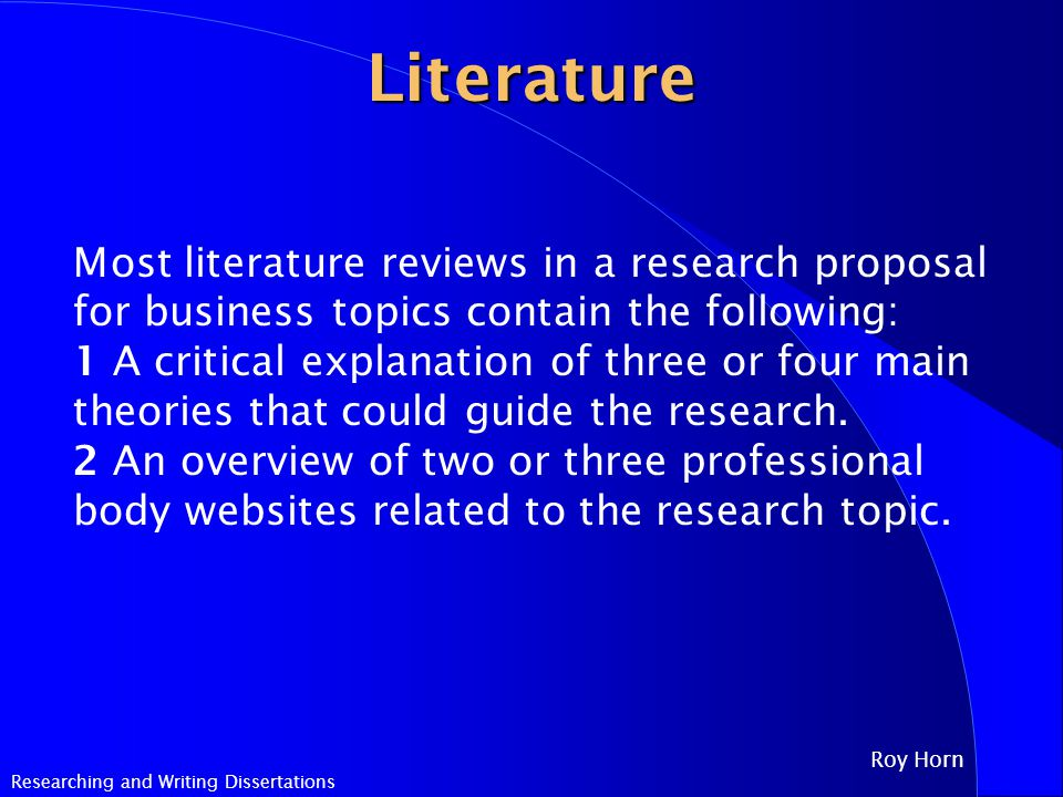 the dissertation methodology and review of literature must be closely aligned