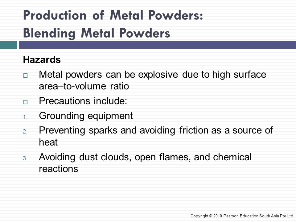 Production of Metal Powders: Blending Metal Powders