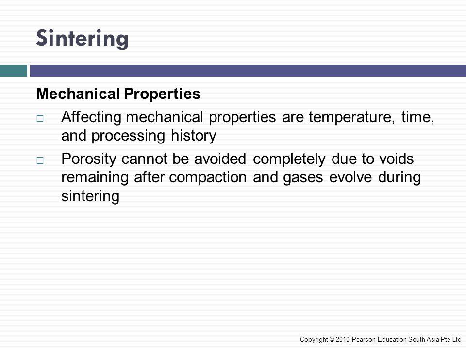 Sintering Mechanical Properties