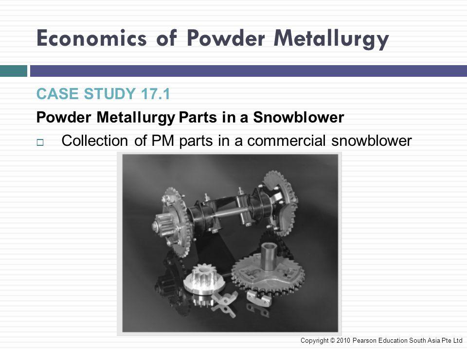 Economics of Powder Metallurgy