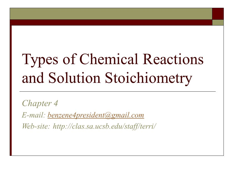 Types of Chemical Reactions and Solution Stoichiometry ppt video – Solution Stoichiometry Worksheet