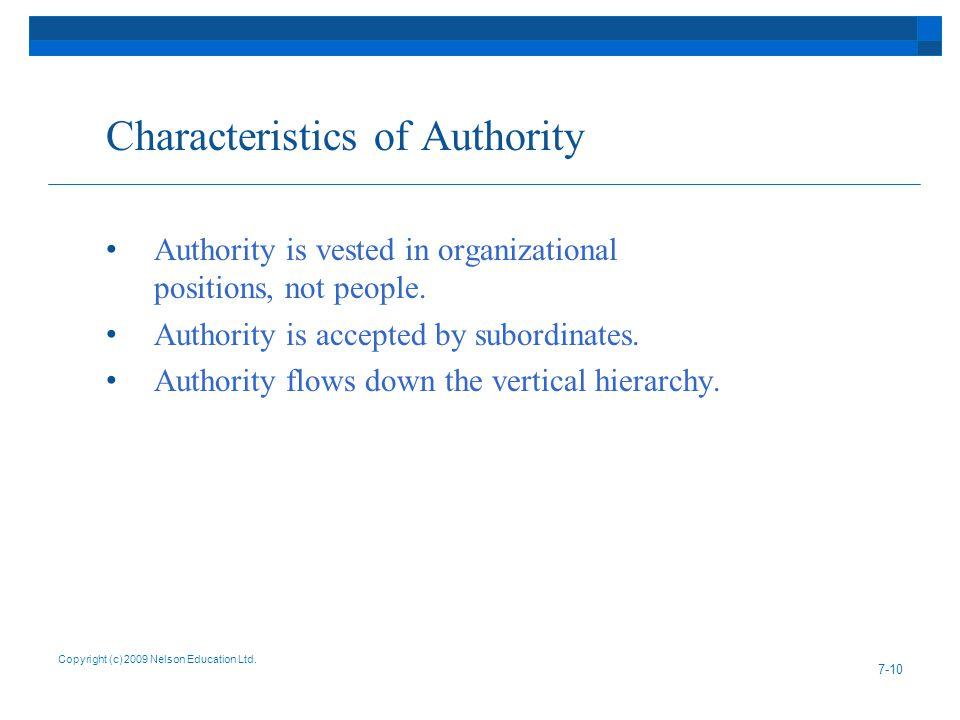 Characteristics of Authority