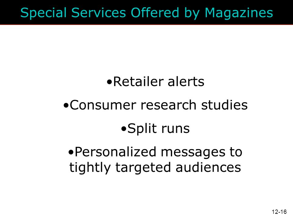 Special Services Offered by Magazines