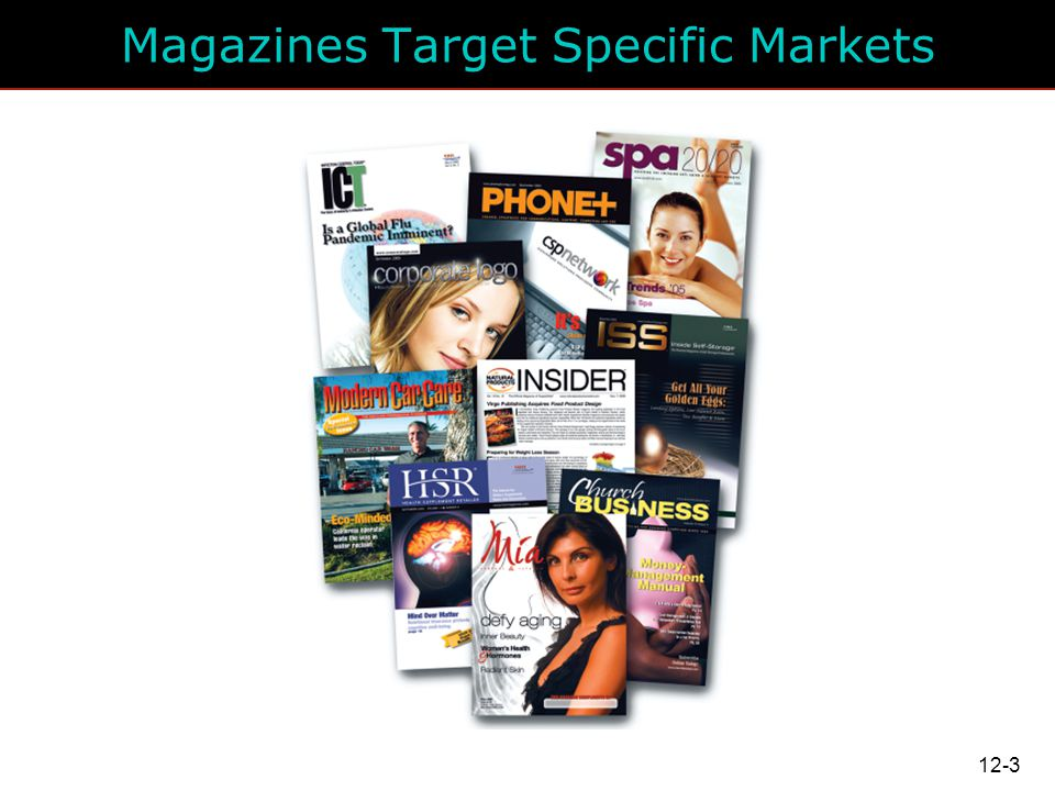 Magazines Target Specific Markets