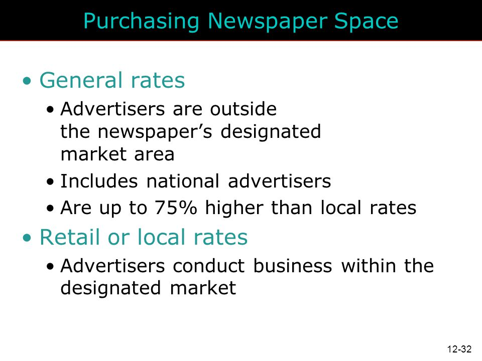 Purchasing Newspaper Space