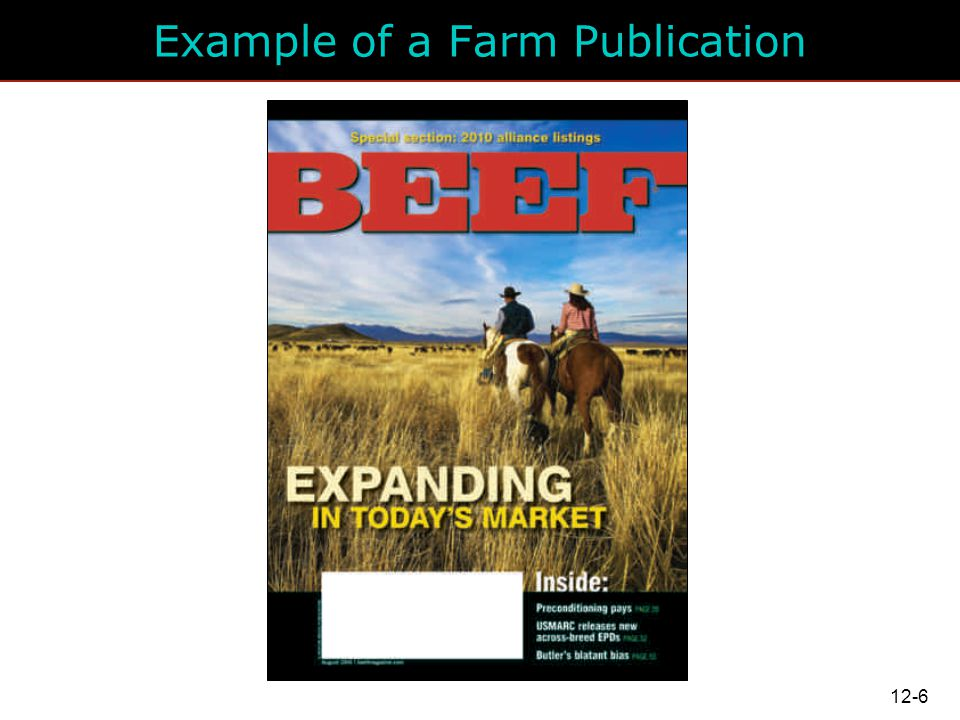 Example of a Farm Publication