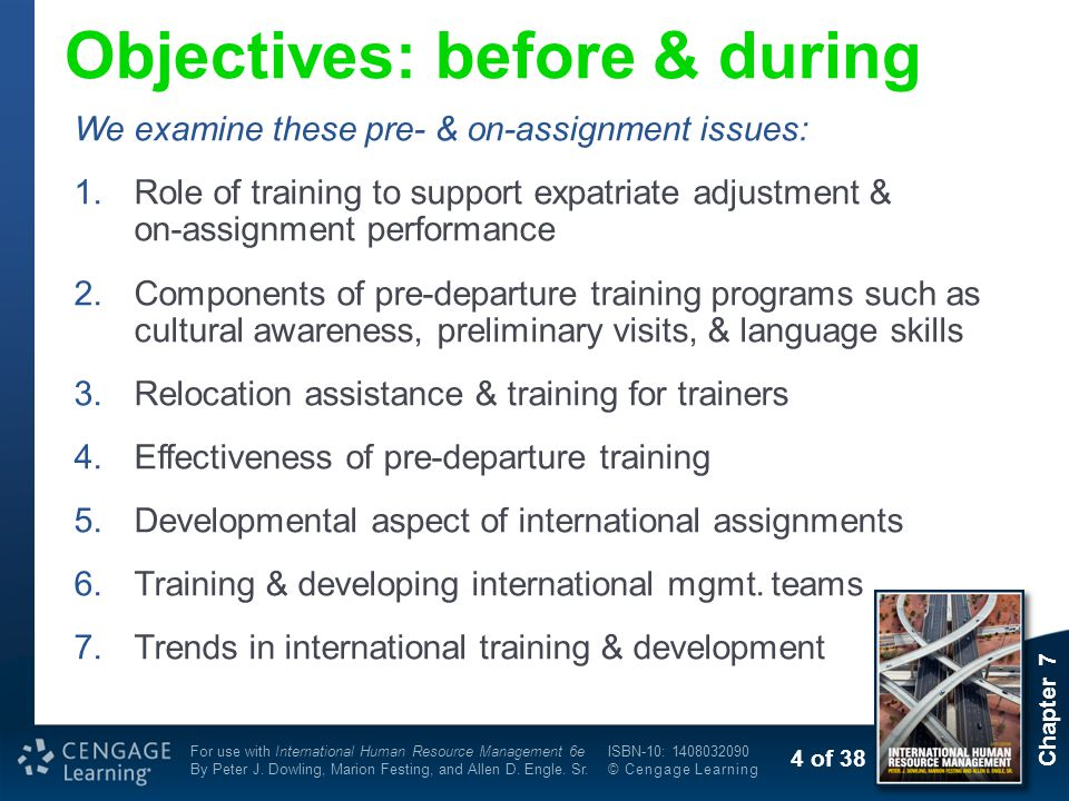 components of effective pre departure training programs Research and practice in human resource management is an  pre-departure training  it is also important to include the family in these training programs.