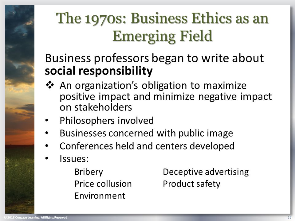 the importance of business ethics for all stakeholders in a business environment Ethics, sustainability and responsibility in business and management education  understanding and acting to link society, the economy, education and the environment  to respond adequately to the needs and interests of all stakeholders and society at large  importance of teaching communal values.