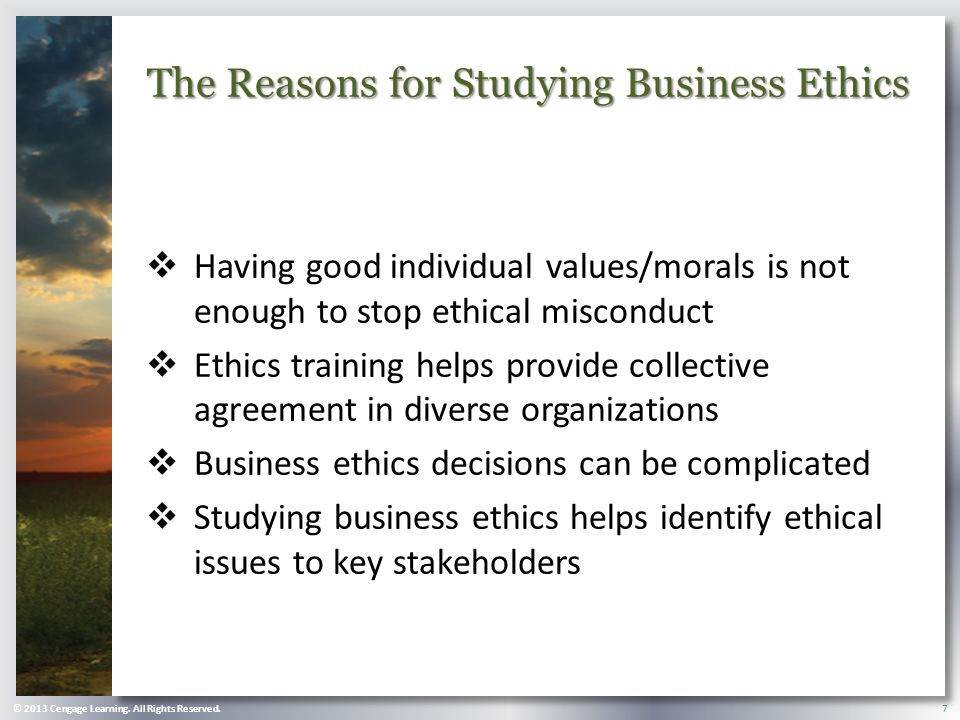 business ethics is not an oxymoron Business ethics is an oxymoron because people get into business to maximize profit while ethics deals with anything other that profit however, there is the dilemma about doing the right thing it seems the one who abides by moral principles is usually poorer while the crook becomes richer.