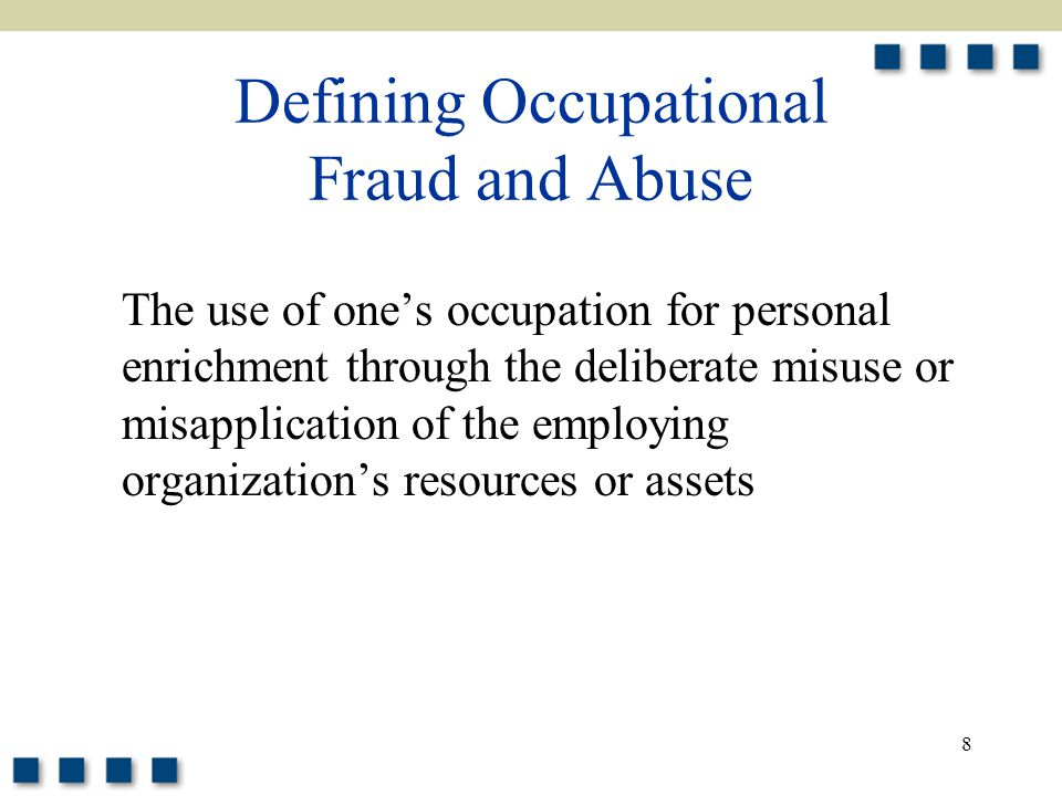 Occupational Fraud! Essay