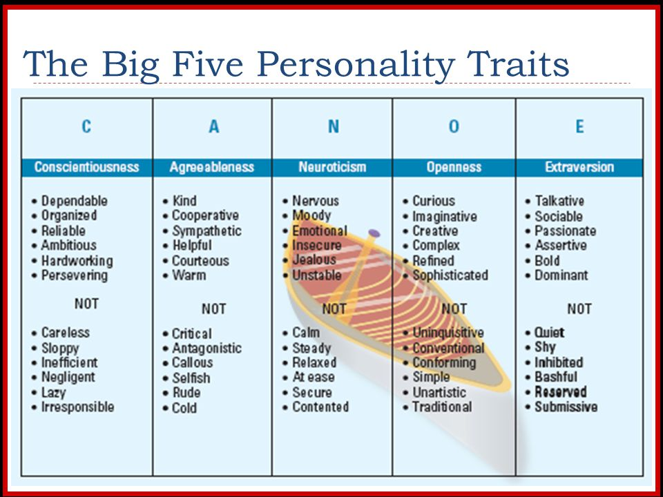 leadership and the big five personality profile Workplace big five profiletm 40 trait and narrator reports bringing personality awareness to the forefront the trait report provides a graphical by analyzing an individual's leadership style under the big five and other popular models, leaders and leadership development professionals have a.