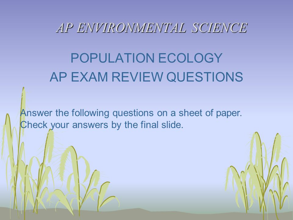 ap environmental science essay questions answers