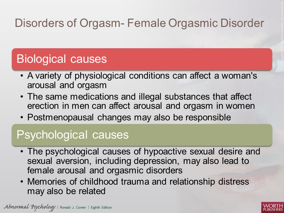 Cause of female orgasm