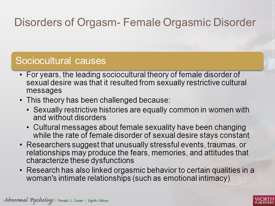 an overview of the function of the female orgasm Female sexual dysfunction (fsd) the author modified female sexual function index female sexual dysfunction: drug treatment options.