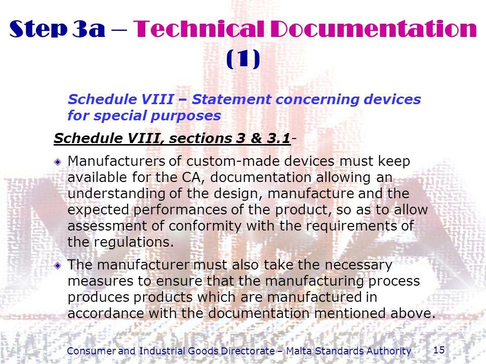 Step 3a – Technical Documentation (1)