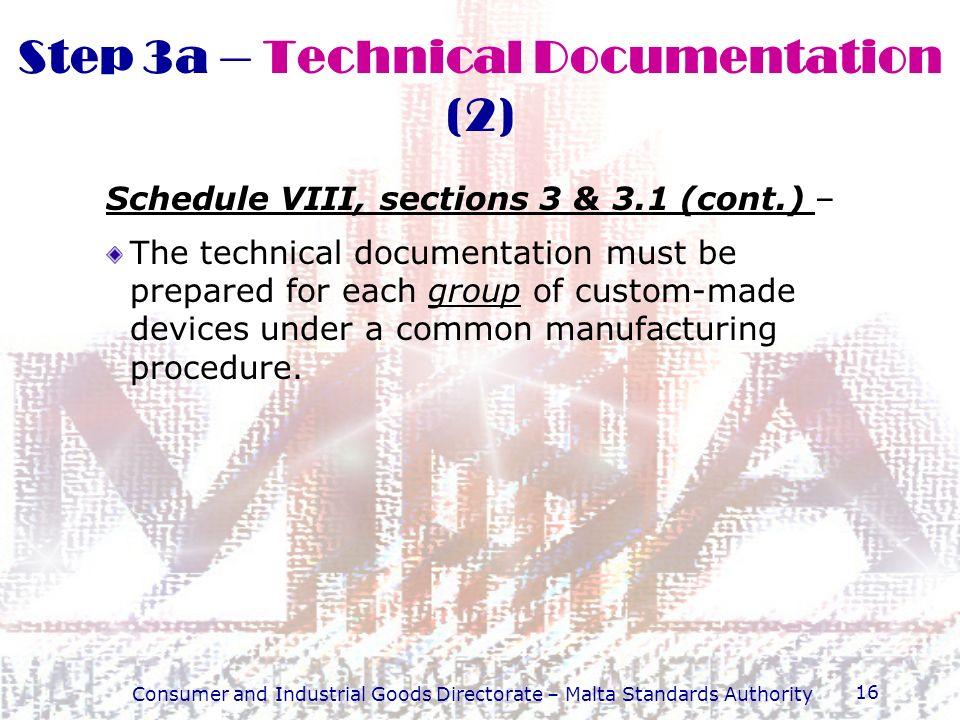 Step 3a – Technical Documentation (2)