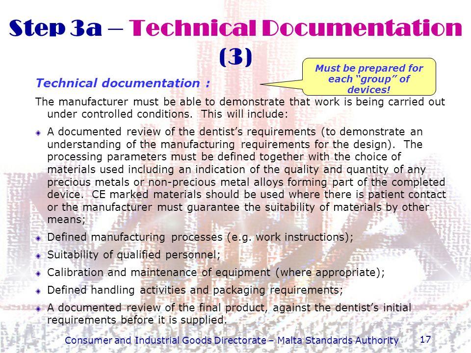 Step 3a – Technical Documentation (3)