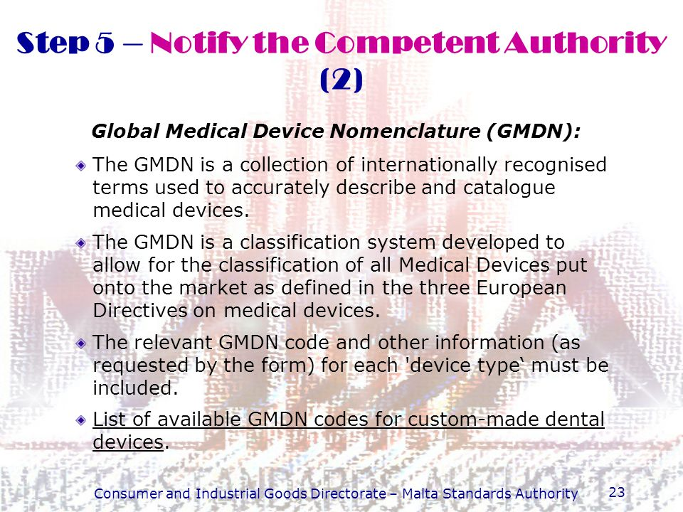 Step 5 – Notify the Competent Authority (2)