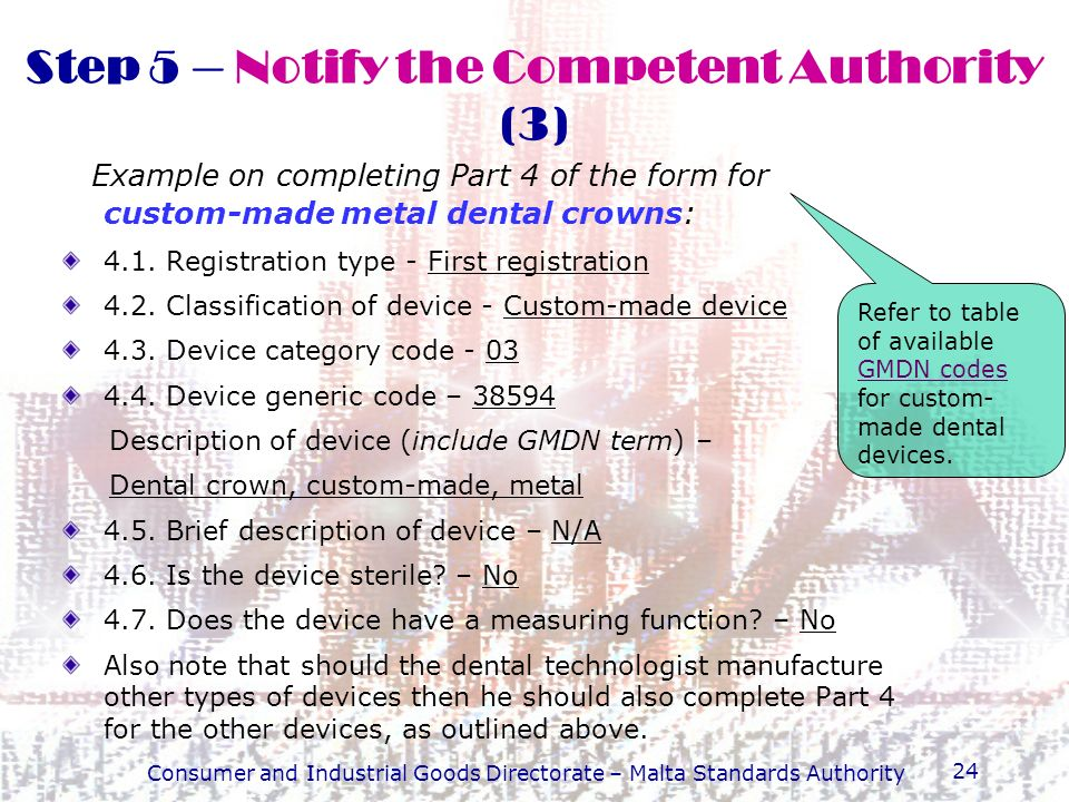 Step 5 – Notify the Competent Authority (3)