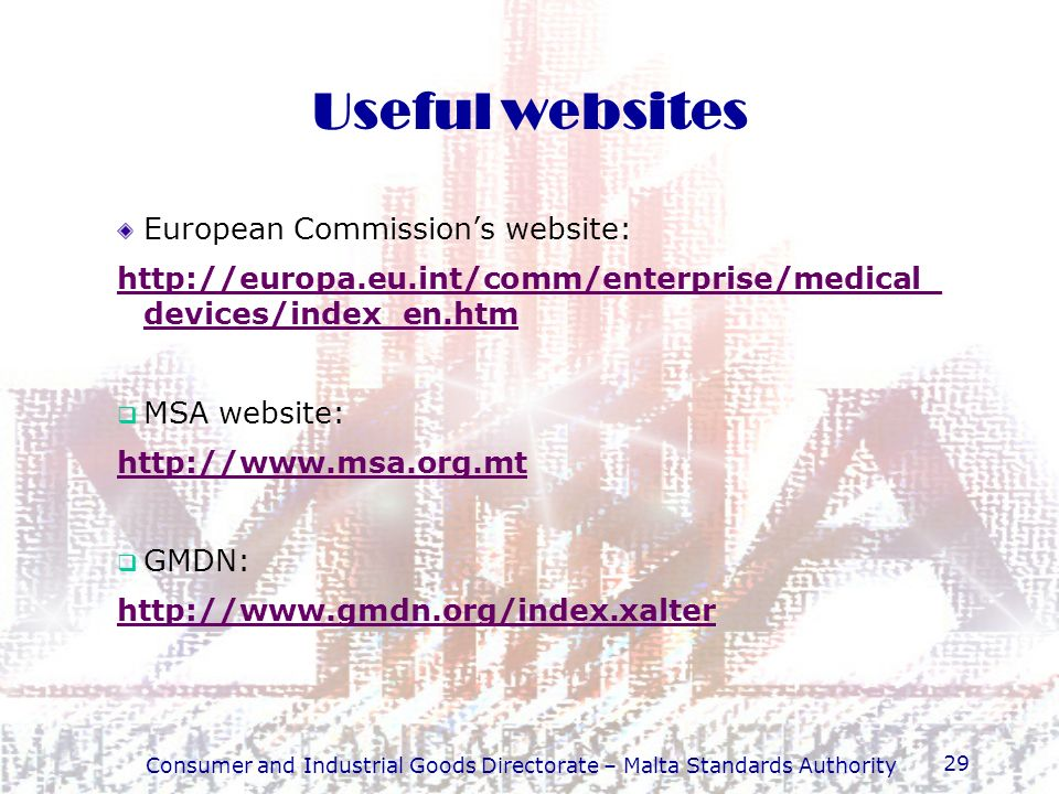 Consumer and Industrial Goods Directorate – Malta Standards Authority