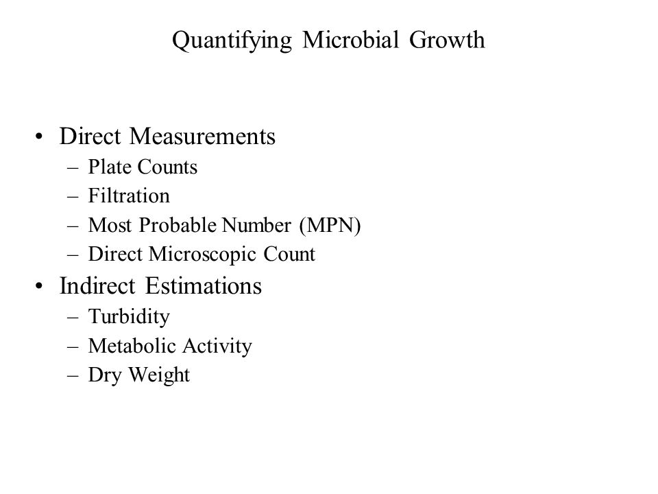 Quantifying Microbial Growth