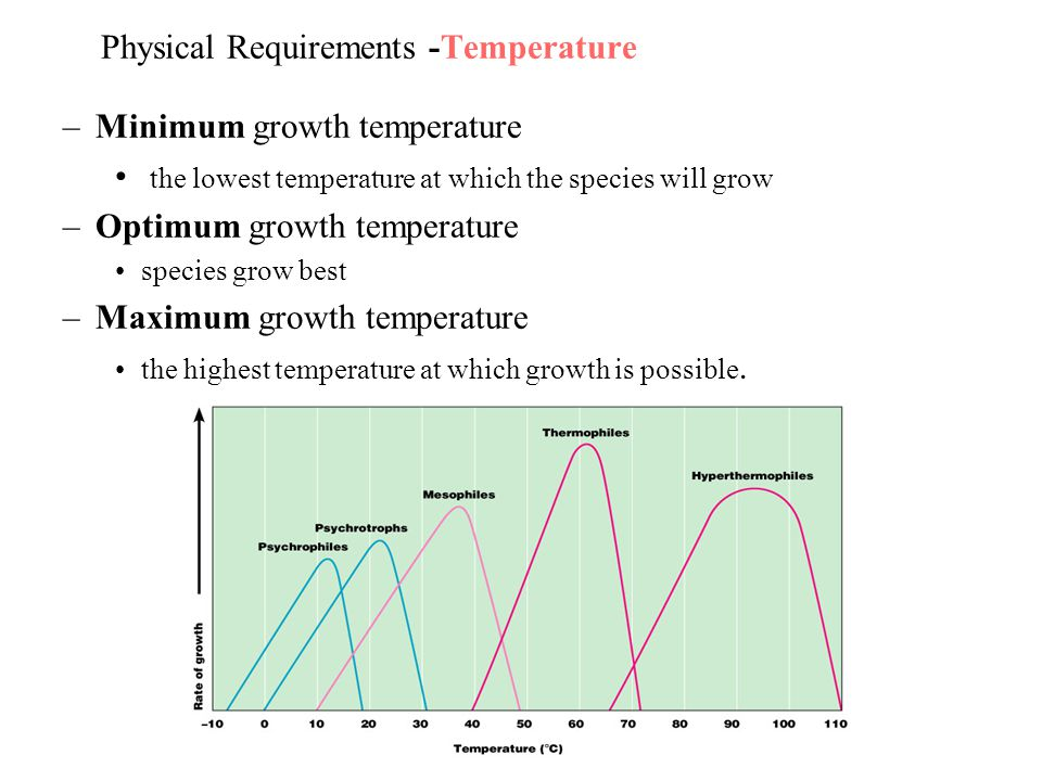 Physical Requirements -Temperature