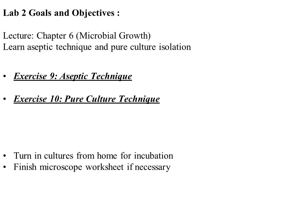 Lab 2 Goals and Objectives :