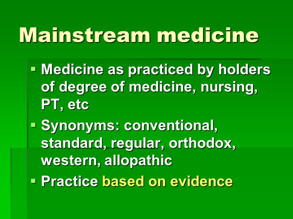 nursing practices of alternative medicine Why alternative medicine should be integrated into conventional health care  complementary and alternative medicine practices are  nursing.