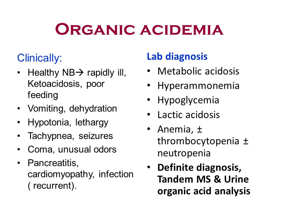 Lactic Acidosis Diagnosis