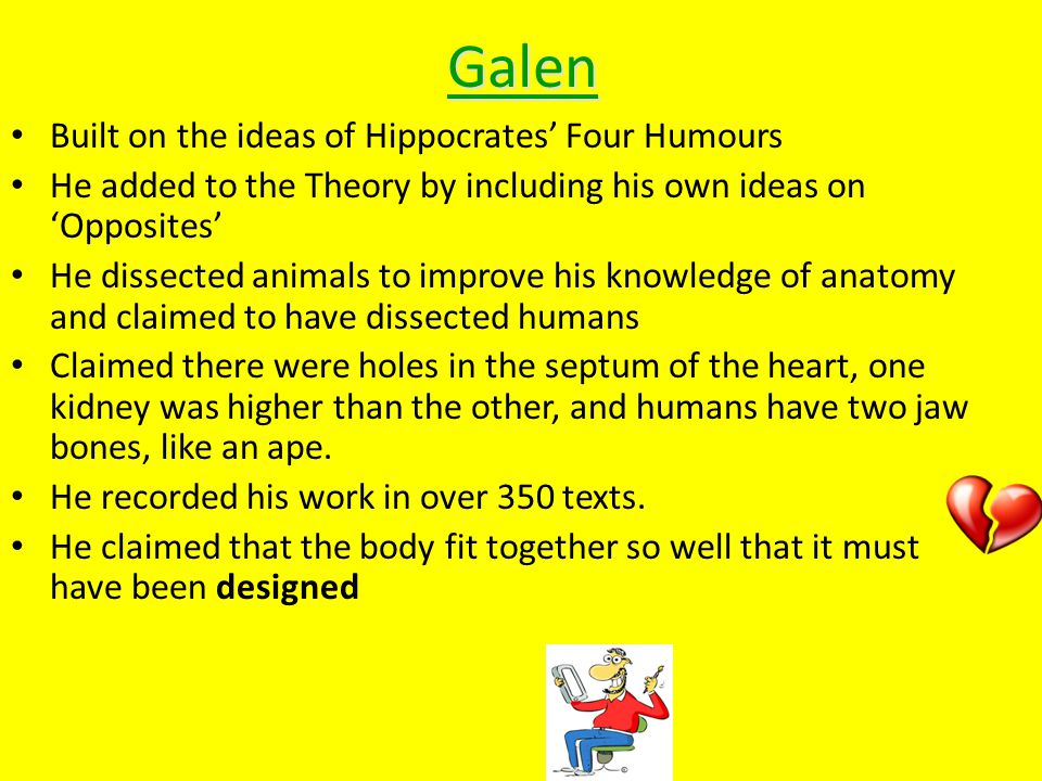 hippocrates galen and the four humours their relationship