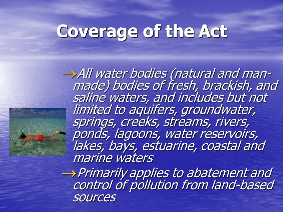 anzecc water quality guidelines for fresh and marine waters