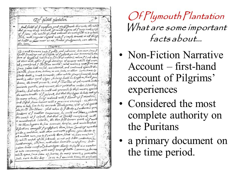 plymouth plantation essay Check out our top free essays on of plymouth plantation to help you write your own essay.