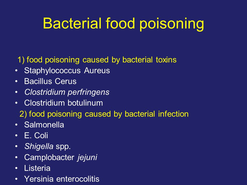 bacterial food posioning A weaker immune system in the elderly puts them at risk of serious bacterial food poisoning singapore general hospital (sgh) department of infectious diseases.