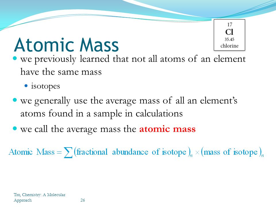 atomic mass of all elements pdf