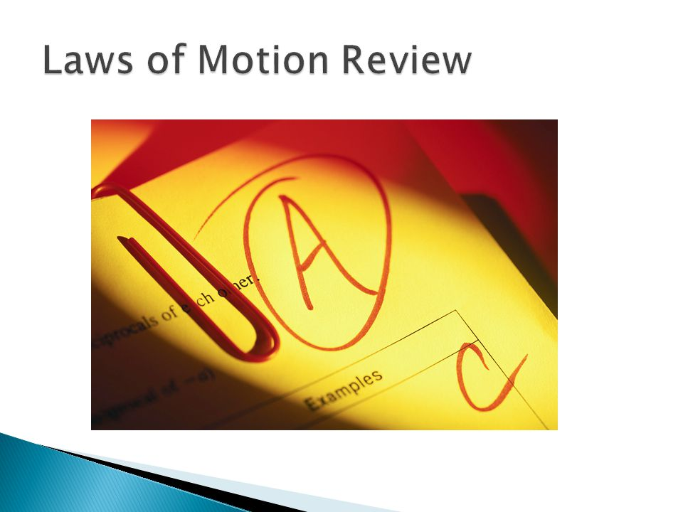 Laws of Motion Review