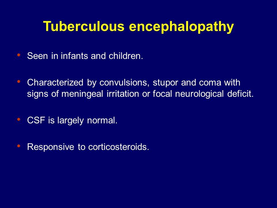 Tuberculous encephalopathy