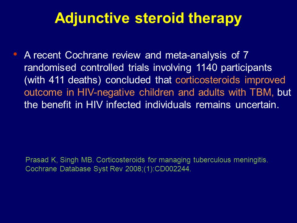 Adjunctive steroid therapy