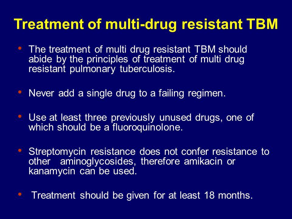 Treatment of multi-drug resistant TBM