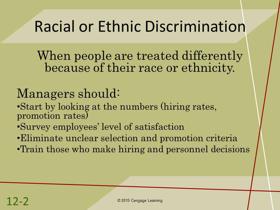 racial ethnic discrimination Describe three explanations for why racial and ethnic inequality exist in the   autobiographical accounts of the bigotry and discrimination they faced while.