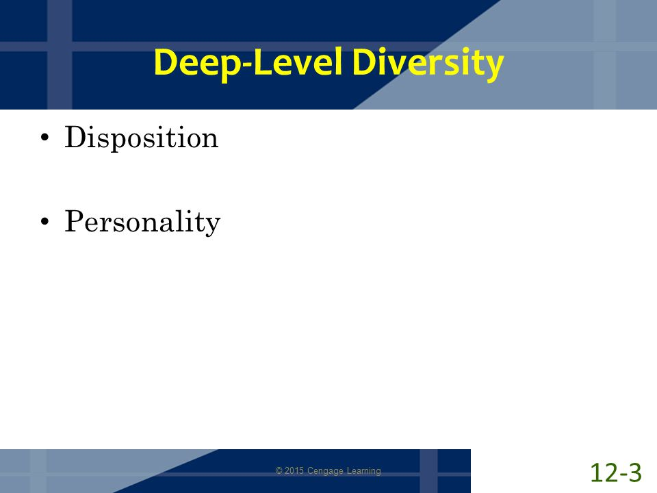 surface level deep level diversity Title: time, teams, and task performance: changing effects of surface- and deep-level diversity on group functioning created date: 20160731172827z.
